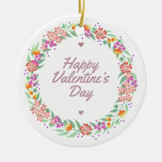 Ornement floral de la heureuse Sainte-Valentin |