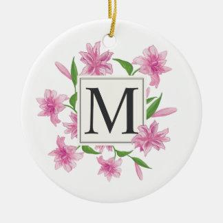 Ornement floral élégant du monogramme | de cadre