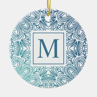 Ornement floral élégant du monogramme | de mandala