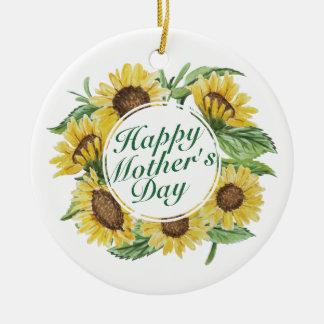 Ornement floral heureux du jour de mère de
