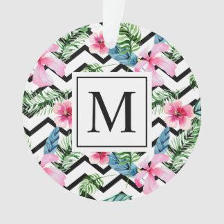 Ornement floral tropical du monogramme | de