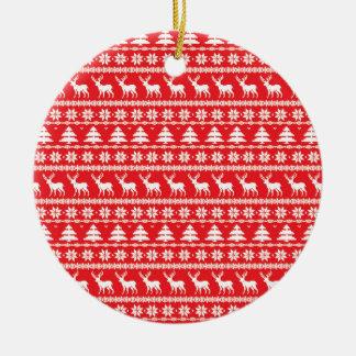 Ornement folklorique nordique de chandail de Noël