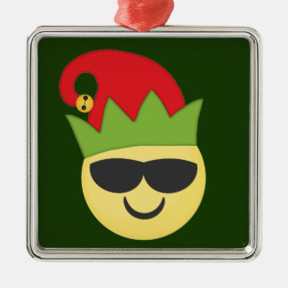 Ornement frais de Noël d'Emoji Elf