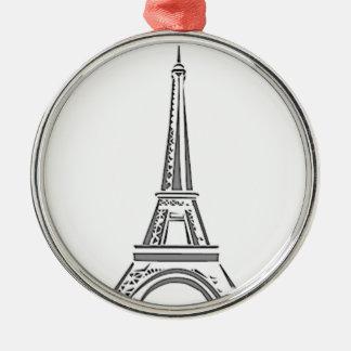 Ornement français de Noël de Paris de Tour Eiffel
