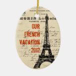 Ornement français vintage de Tour Eiffel