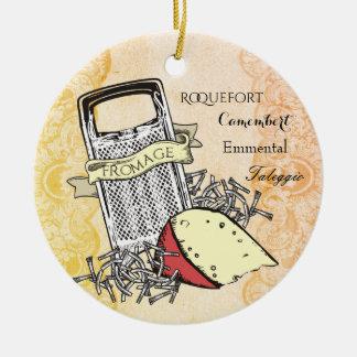 Ornement gastronome de Noël de râpe de fromage de