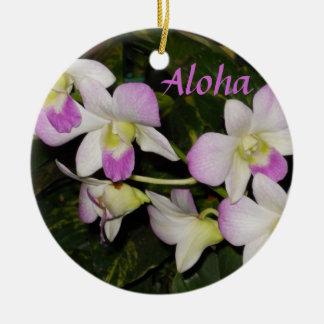 Ornement hawaïen de Noël d'orchidées
