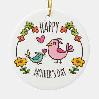 Ornement heureux adorable du jour de mère |