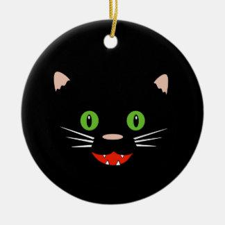 Ornement heureux de chat noir