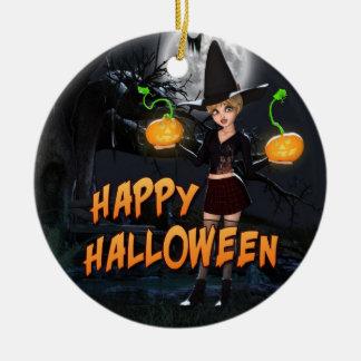 Ornement heureux de Halloween Skye