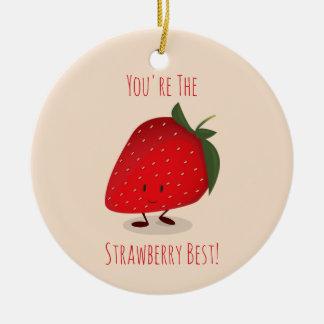 Ornement heureux du caractère   de fraise