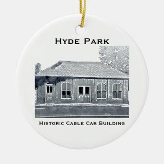 Ornement historique du funiculaire de Hyde Park