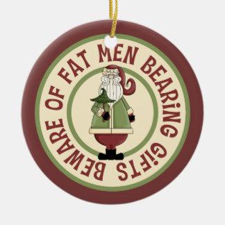 Ornement humoristique de Père Noël