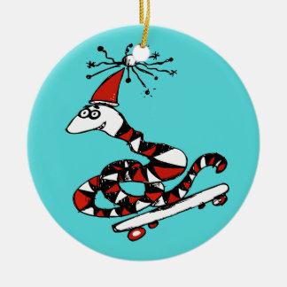 Ornement idiot de Noël de serpent de Père Noël