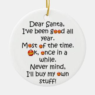 Ornement idiot drôle de Noël de plaisanterie