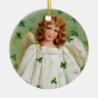 Ornement irlandais de Noël d'ange. Nollaig Shona
