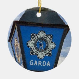 Ornement irlandais de Noël de police de policier