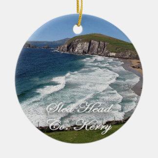 Ornement irlandais de Noël, tête de Slea, anneau