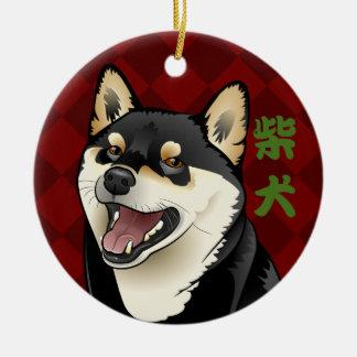 Ornement japonais de kanji de chien