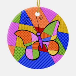 Ornement lunatique de papillon de cubisme avec