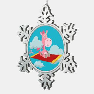 Ornement magique en métal de tour du tapis de la ornement flocon de neige pewter