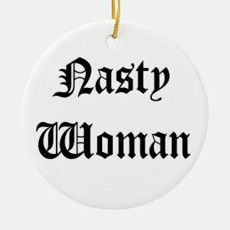 Ornement méchant de Noël de femme