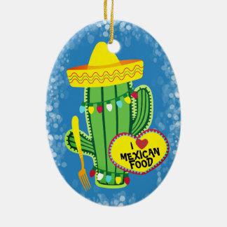 Ornement mexicain de Noël de nourriture de cactus