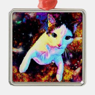 Ornement mignon coloré de disco de Kitty de danse
