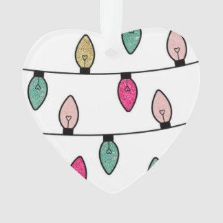 Ornement mignon d'arbre de lumières de Noël