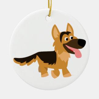 Ornement mignon de chien de berger allemand de ban