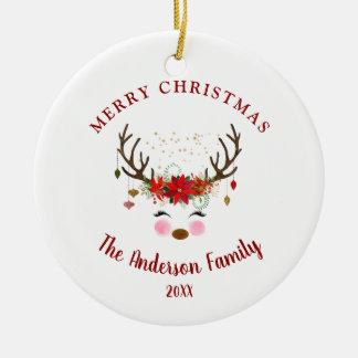 Ornement mignon de fête de vacances de Noël de