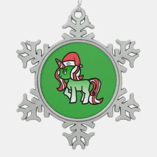 Ornement mignon de licorne de Noël - arrière -