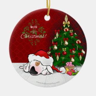 Ornement mignon de Noël de bull-terrier de bande