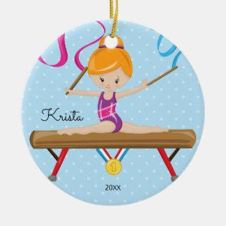 Ornement mignon de Noël de gymnastique de gymnaste