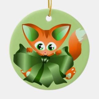 Ornement mignon de Noël de renard de bébé de bande