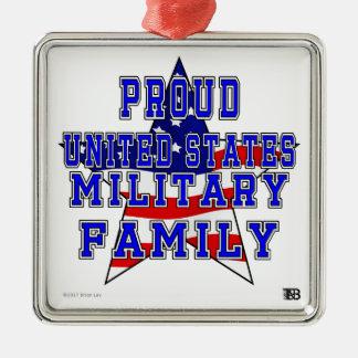 Ornement militaire fier de carré de famille