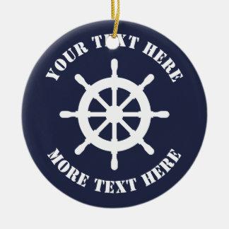 Ornement nautique de Noël de barre de bateau pour