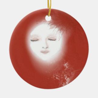 "Ornement Noël ""Dame lune"""