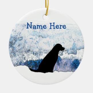 Ornement noir de Noël de Labrador