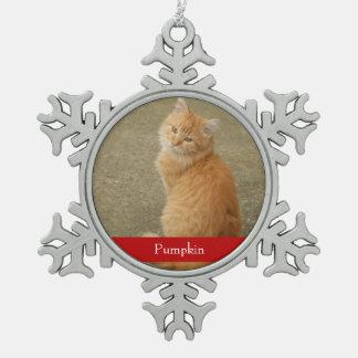 Ornement nommé rouge de Noël de chien de chat de