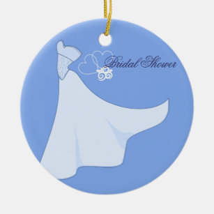 Ornement nuptiale de robe de mariage de douche