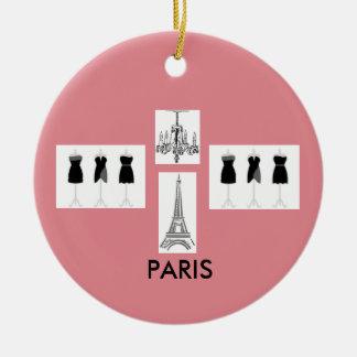 Ornement orienté français rose de Noël de Paris