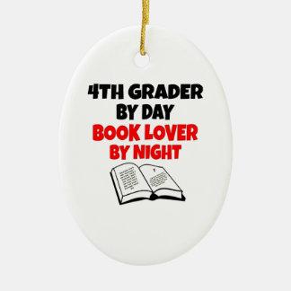 Ornement Ovale En Céramique 4ème niveleuse d'amoureux des livres