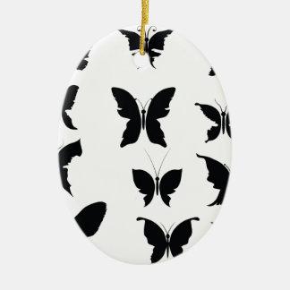 Ornement Ovale En Céramique 51Butterflies