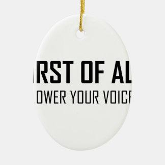 Ornement Ovale En Céramique Abaissez votre voix