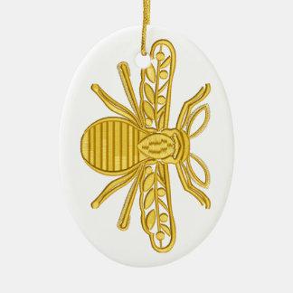 Ornement Ovale En Céramique abeille royale, imitation de broderie