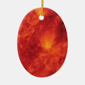 Ornement Ovale En Céramique abîme du feu de flamme