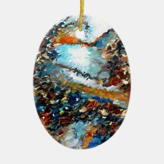 Ornement Ovale En Céramique Abrégé sur Geode d'agate