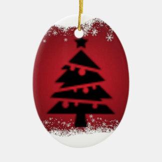 Ornement Ovale En Céramique Acclamation de Noël