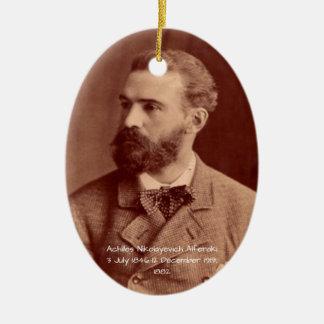 Ornement Ovale En Céramique Achille Nikolayevich Alferaki